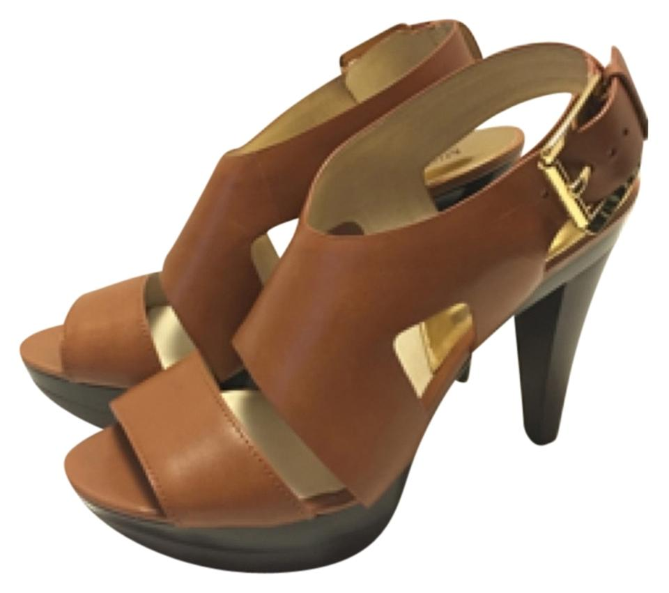 fd83b447b3d MICHAEL Michael Kors Luggage Tan Carla Sandals Platforms. Size  US 9  Regular (M ...