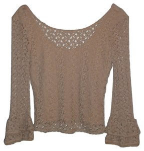 Free People Top Beige