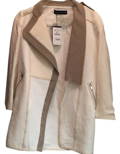 Zara White/ beige/ neutral Jacket
