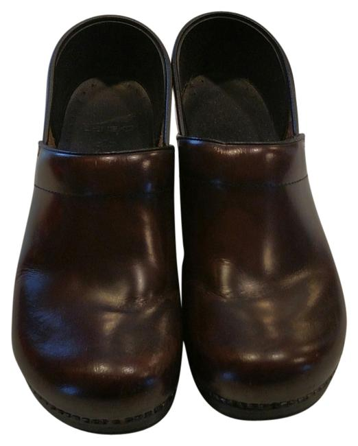 Item - Brown Leather Mules/Slides Size US 9 Regular (M, B)