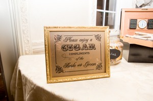 Bride And Groom Cigar Sign