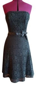 Mica Lace A-line Strapless Dress