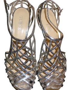 Guess Siliver Shiny Silver Sandals