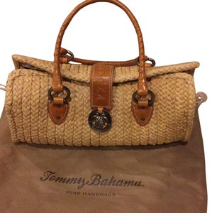 Tommy Bahama Satchel in Natural Straw