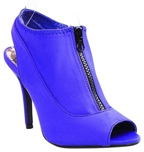 Forever 21 21 Sexy Peep Toe Zipper Slingback Stiletto Sandal New Tags Blue Pumps