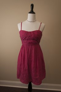 IZ Byer California short dress Pink Machine Washable on Tradesy