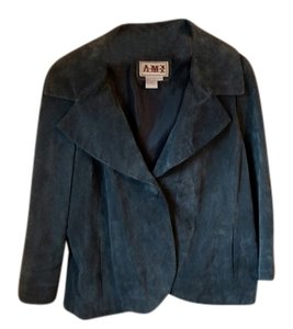 Ami Sport Suede powder blue Leather Jacket