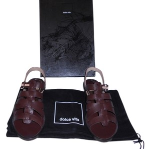 Dolce Vita Enrico Contrast Ankle Strap Brown Sandals