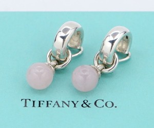 Tiffany & Co. TIFFANY&Co Rose Quarz Ball Dangle Clip-on Earrings - Authentic!
