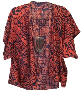 Foreign Exchange Top Black Orange