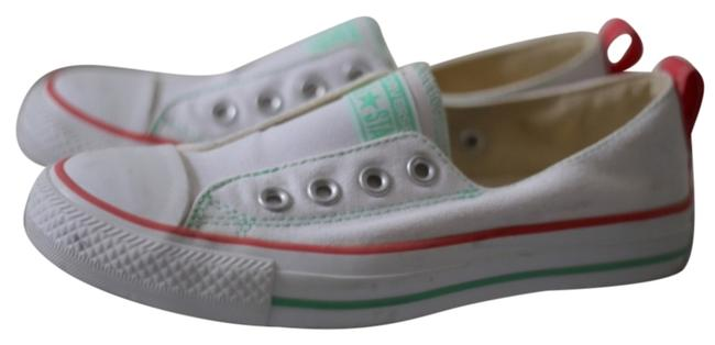 Item - White Coral and Mint Sneakers Size US 6 Regular (M, B)