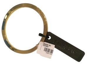 J.Crew J.CREW Gold Plated Bangle Bracelet (Flat on One Side)