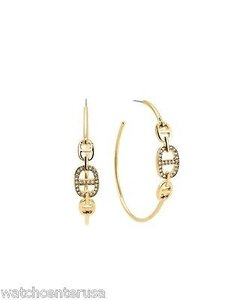 Michael Kors Michael Kors Mkj4449 Gold Maritime Hoop Earrings