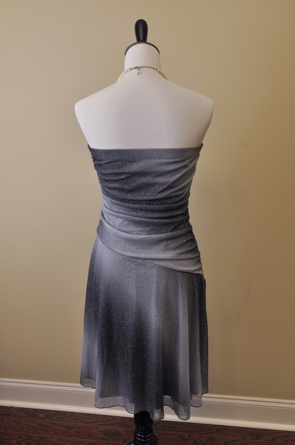 Jodi Kristopher Glitter Asymmetrical Strapless Dress