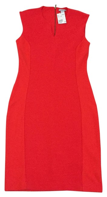 Item - Tomato Red Knee Length Night Out Dress Size 8 (M)