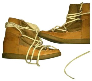 Forever 21 Brown Wedge Ankle Laceup Tan Boots