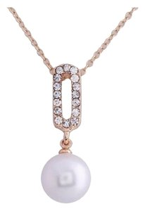 New! 9K Yellow Gold Pearl Necklace
