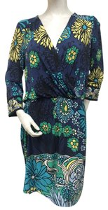 Ali Ro short dress Blue Floral Jersey Knit on Tradesy