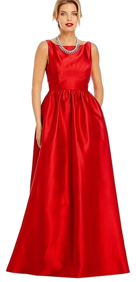 Adrianna Papell Red Evening Gown Long Formal Dress Size 12 (L) - Tradesy