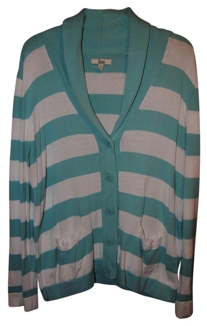 Preload https://item4.tradesy.com/images/gh-bass-striped-cardigan-teal-and-white-stripes-1111813-0-0.jpg?width=400&height=650