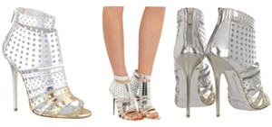 Jimmy Choo Silver ombre to gold Pumps