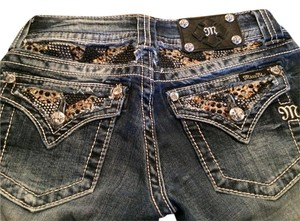 Miss Me Studded Boot Cut Jeans-Distressed