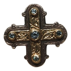Konstantino Konstantino Pave Topaz Cross Ring - Retails $825 - Sold Out