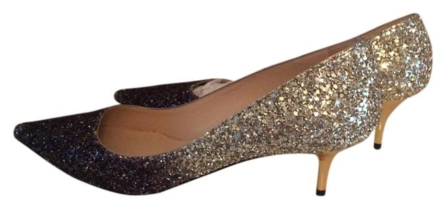 Item - Black/Nude Glitter 144 Aza Cgd 50mm Black/Nude Pumps Formal Shoes Size US 9.5