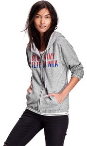 Old Navy Hoodie Sweatshirt Graphic Tee French Terry Logo Sweatshirt T Shirt Grey