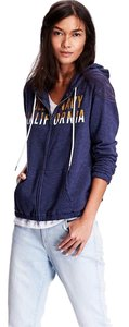 Old Navy Hoodie Sweatshirt French Terry Graphic Jacket T Shirt Blue