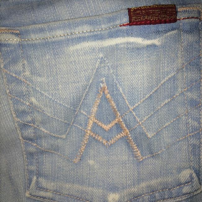 7 For All Mankind A-pocket Boot Cut Jeans-Light Wash
