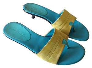 Gianni Bini Turquoise/Lime Green Sandals