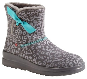 UGG Australia grey leopard with blue bow Boots