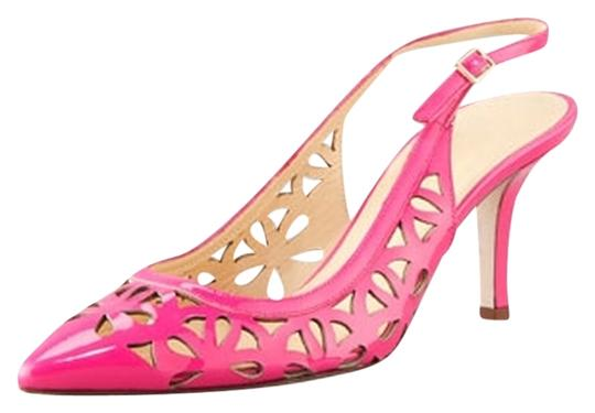 Kate Spade Patent Leather Cut-out Sandal Summer Hot Pink Pumps