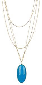 Nordstrom NEW! Sapanyu Savannah Layering Long Necklace, Gold & Turquoise