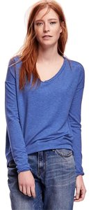 Old Navy Hi Lo Supersoft Dolman Boxy T Shirt Blue