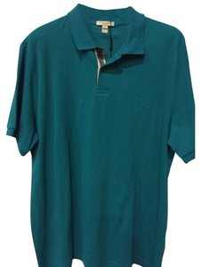Burberry Button Down Shirt Vibrant Teal