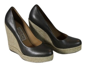 Salvatore Ferragamo Metallic Wedges