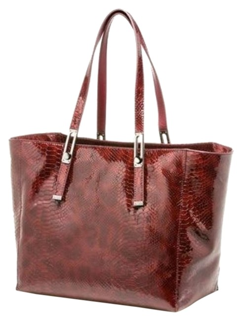 Item - Ketchall Large Traveling Burgundy Leather Tote