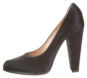 Céline Heels Black Classic Cute Satin Black Satin Pumps