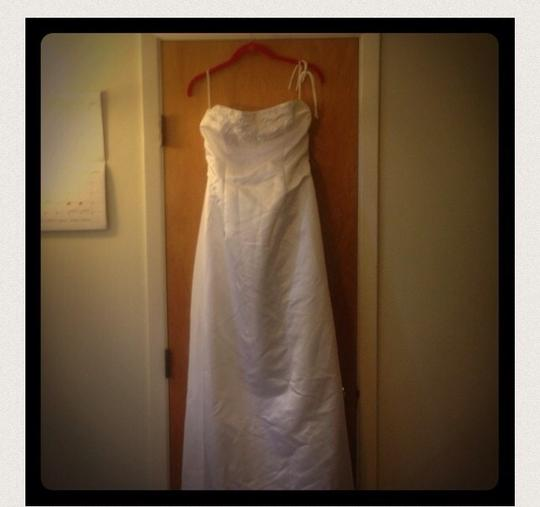 Talbots beautiful white wedding dress with detailed for Talbots dresses for weddings