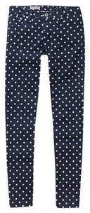 AG Adriano Goldschmied Skinny Polka Dot Anthropologie Ankle Length Skinnies Skinny Jeans-Medium Wash