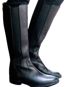 Tory Burch Christy Riding Boot Leather BLACK Boots