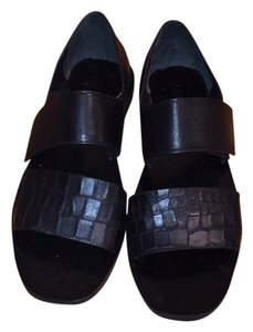 Vince black with croc style strap Sandals