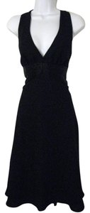 Jones New York Halter-style Silk Waistband Dress