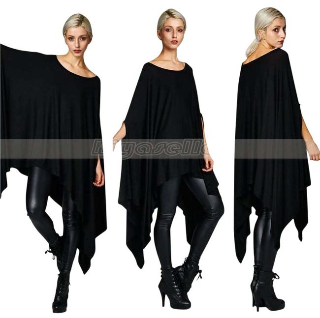 Item - Black Free Next Day Shipping   Batwing Dress Blouse Or Poncho/Cape Size 28 (Plus 3x)