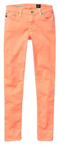 AG Adriano Goldschmied Skinny Neon Coral Anthropologie Skinny Jeans-Light Wash