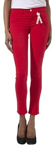 J Brand Skinny Red Pant Skinnies Twill Anthropologie Skinny Jeans