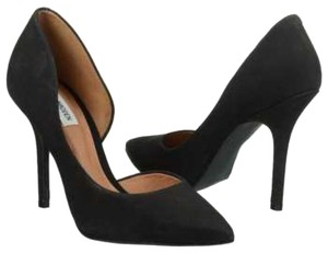 Steve Madden Leather D'orsay Pump Black Nubuck Suede Pumps