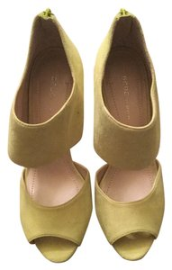 BCBGeneration Suede Neon Yellow Platforms
